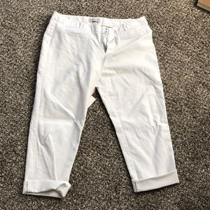 Gap-slim cropped-white pants - stretch - size 12